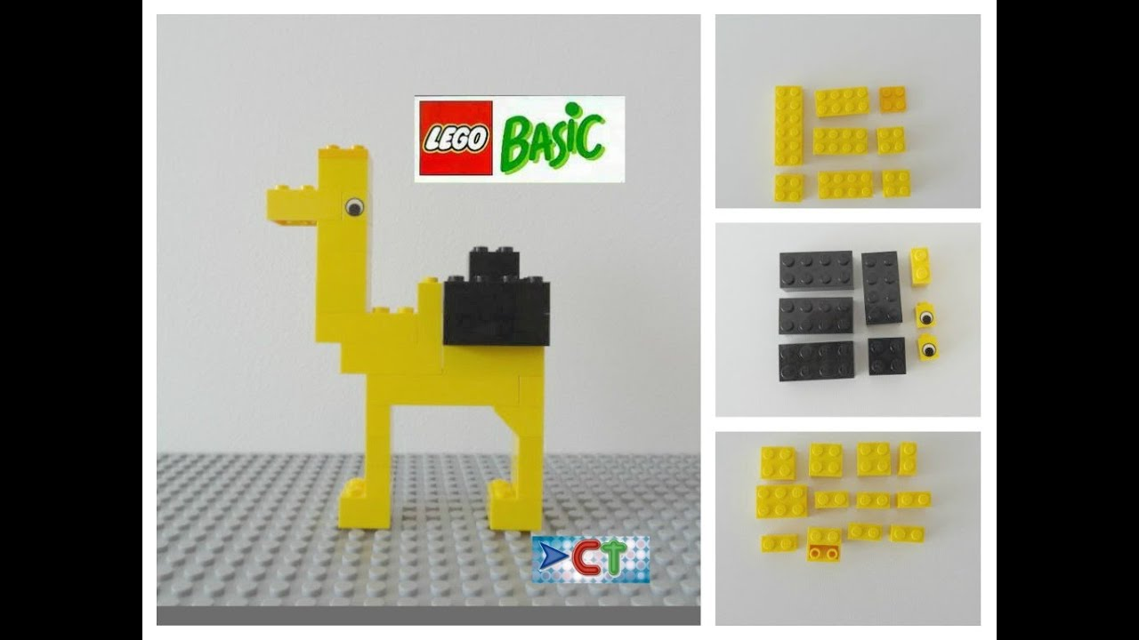 Lego Easy Tutorial How To Build Camel Animals Lego Basic Instruction