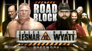 WWE Roadblock 2016 Full and Official Match Card - HD