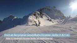 Ski-Abfahrt vom Füssener Jöchle im Tannheimer Tal
