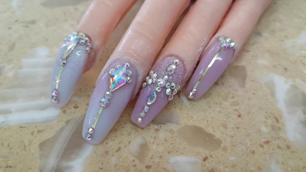 Idea For Bling Bling Nails Design Youtube