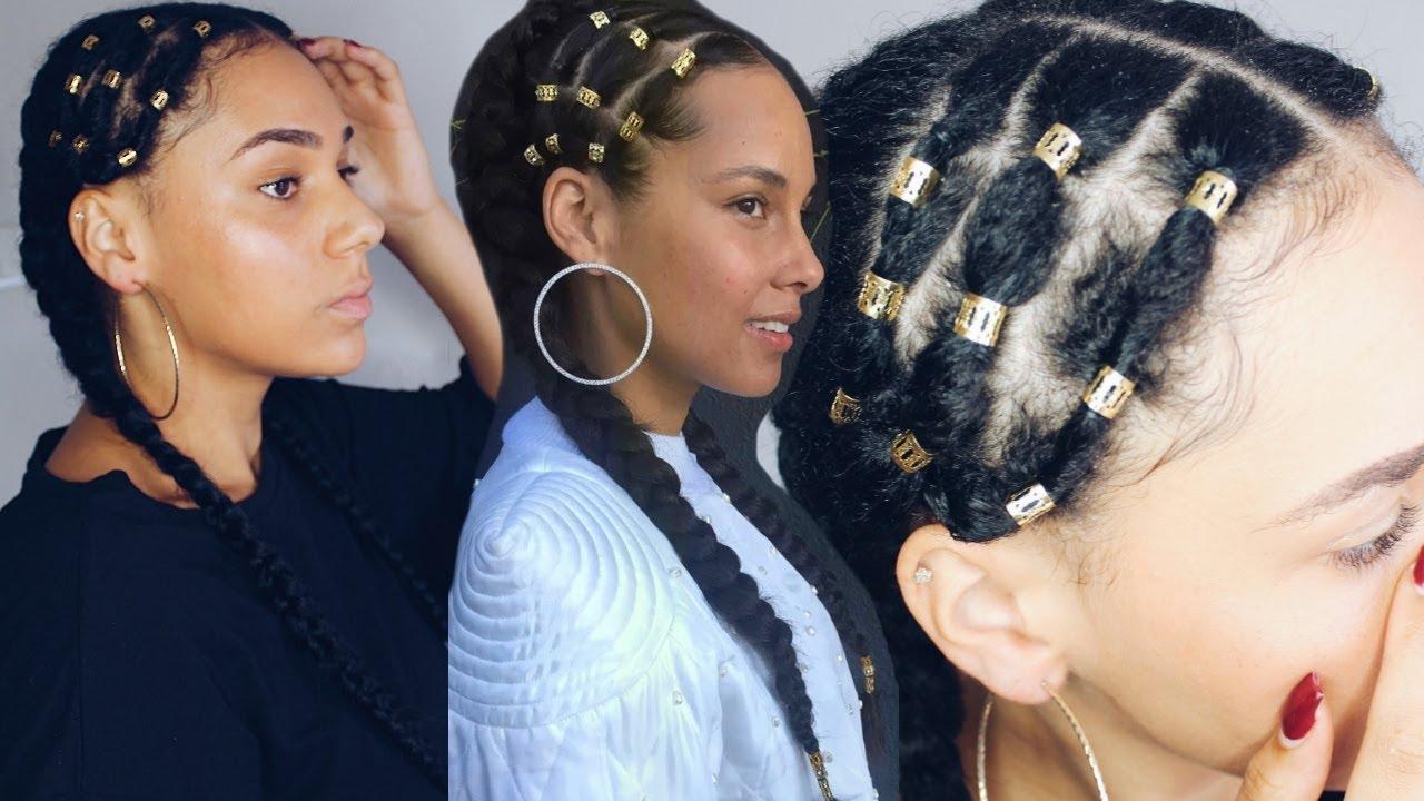 Alicia Keys Inspired Braiding Hairstyle Issavia Merkus Youtube