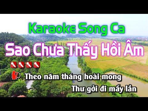 Karaoke || Sao Chưa Thấy Hồi Âm Song Ca || Nhạc Sống Duy Tùng