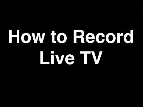 How to Record Live TV