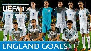 England's top five European Qualifiers goals