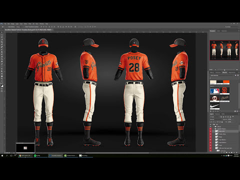 Design MLB SF Giants Baseball Jersey and Uniform Photoshop Tutorial & Template