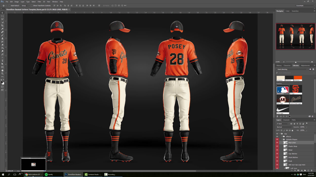 Design Mlb Sf Giants Baseball Jersey And Uniform Photoshop Tutorial