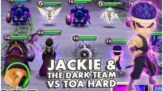 SUMMONERS WAR : Jackie & The Dark Team -vs- ToA Hard (Dark Martial Artist)