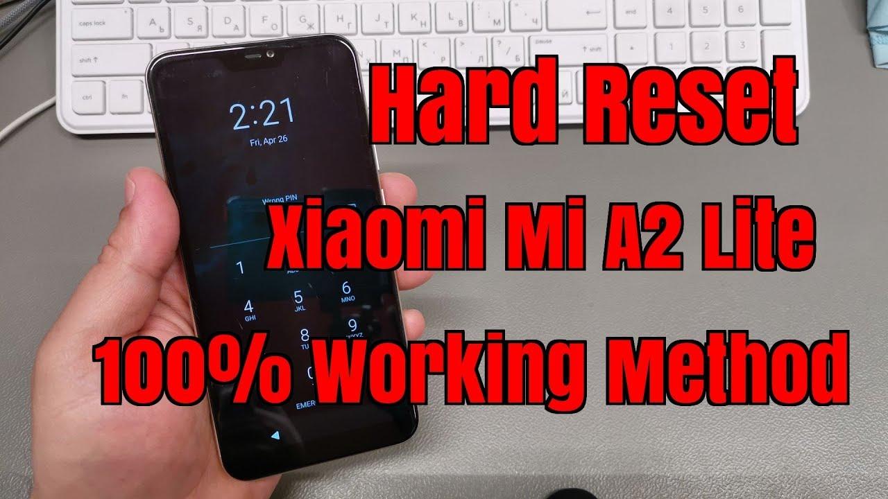 Hard reset Xiaomi Mi A2 Lite M1805D1SG. Remove pin,pattern,password lock.