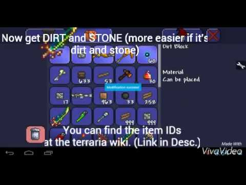 Terraria Android - Let`s Cheat (ADD / REPLACE / HACK NEW ...