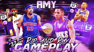 omg ray allen is 3 point cheese ameythst ray allen and rip hamilton gameplay review