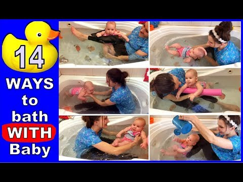 How to bathe with a newborn baby: 14 ways to bath together. thumbnail