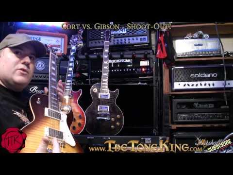 Cort vs. Gibson Guitars - Shoot-Out!  CR250 vs. Les Paul !!