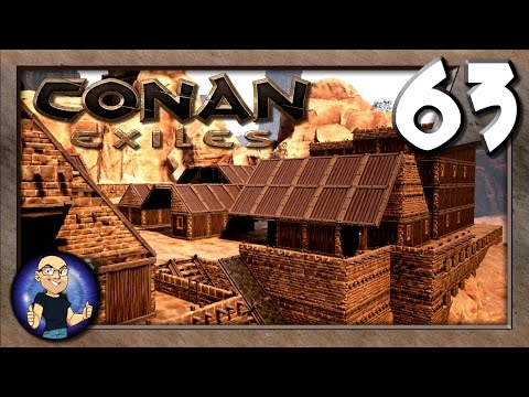 BUILDING MORE HOUSES FOR BANEBURG! - Baneburg Build - Conan Exiles Multiplayer Game Play E63