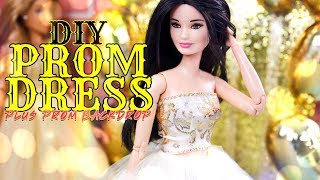 DIY - How to Make: Doll Prom Dress 3 Fabulous Designs PLUS Backdrop