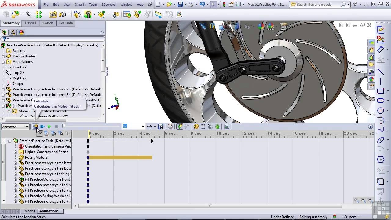 Solidworks 2013 tutorial simple animation youtube baditri Image collections