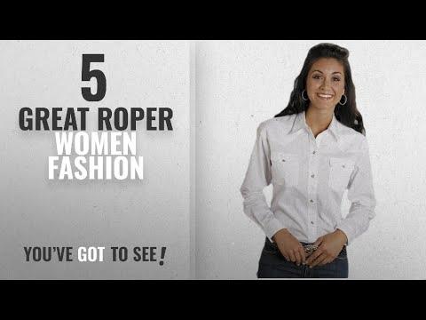 Roper Women Fashion [2018 Best Sellers]: Roper Women's Amarillo Solid Pearl Snap Western Shirt White