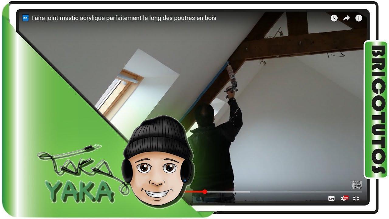 faire joint acrylique parfaitement le long des poutres en bois youtube - Comment Faire Pour Peindre Un Plafond
