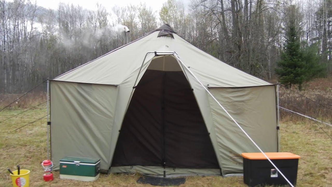 & Cabelau0027s Alaknak tent Bow hunting - YouTube