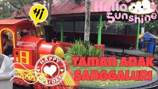 Zara wisata di Taman Main Anak SANGGALURI Purbalingga | carrousel swingger