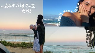 sunrise on the north shore + skin chats :)