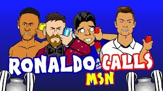 😂📱RONALDO prank calls MSN before the Champions League Final! 📱😂(Parody)
