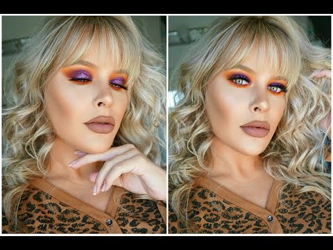 fall-makeup-|-orange-&-purple-eye-tutorial-|-brittany-elizabeth