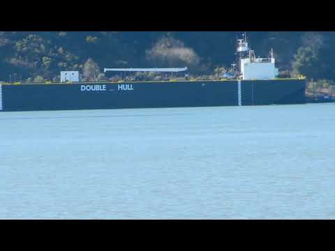 Lovel Briere. tank barge and Eagle, tug transiting Carquinez Strait
