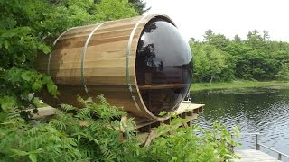 Panoramic View Cedar Barrel Sauna Assembly Video(Panoramic View Cedar Barrel Sauna Assembly Video., 2016-06-27T14:09:57.000Z)