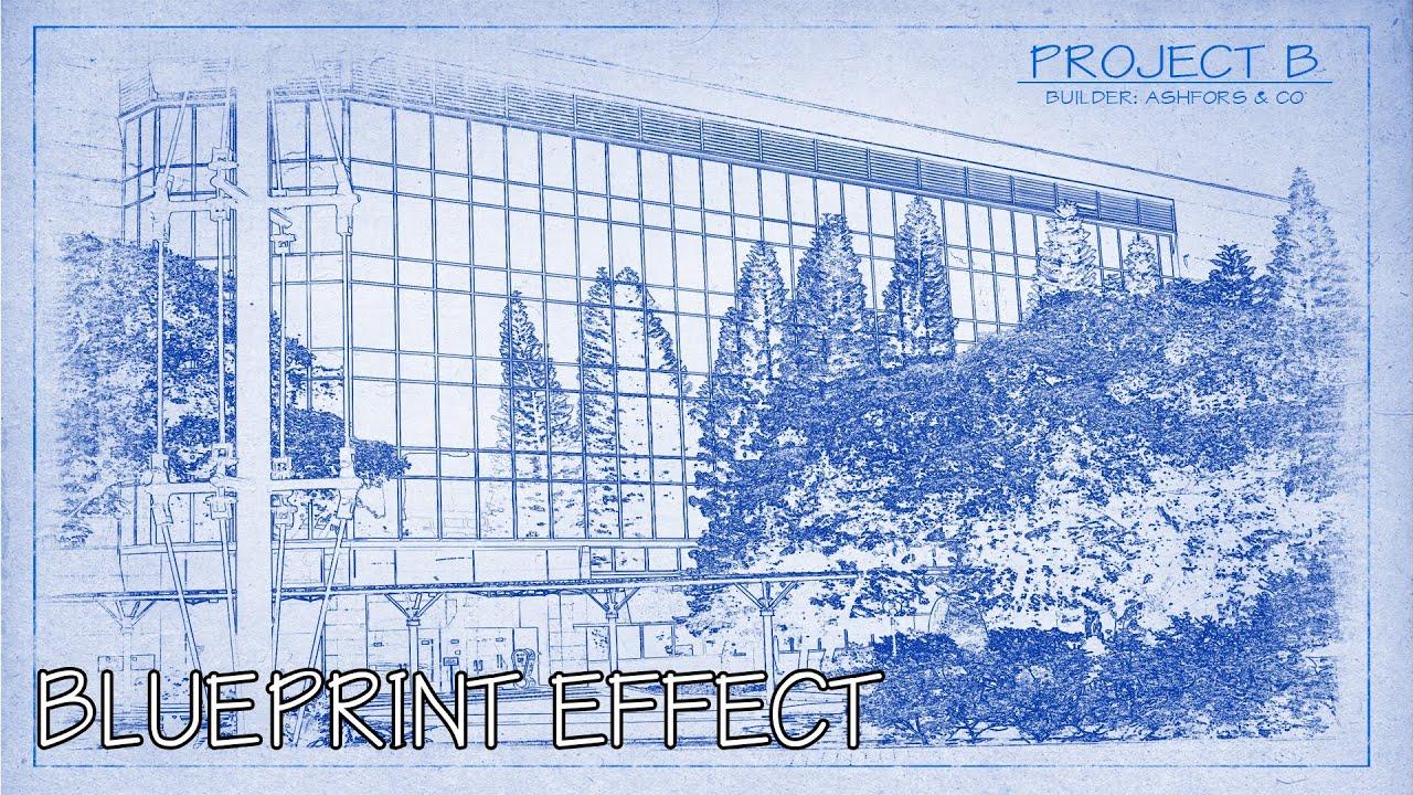Photoshop cs6 blueprint effect youtube malvernweather Image collections
