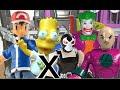 Bart Simpsons Ash Pikachu Pokemon X Bane Lex Luthor Coringa Joker Cadeia Gotham City Imaginext  Toys