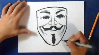 Cómo dibujar Mascara de anonymous | How to draw mask anonymous