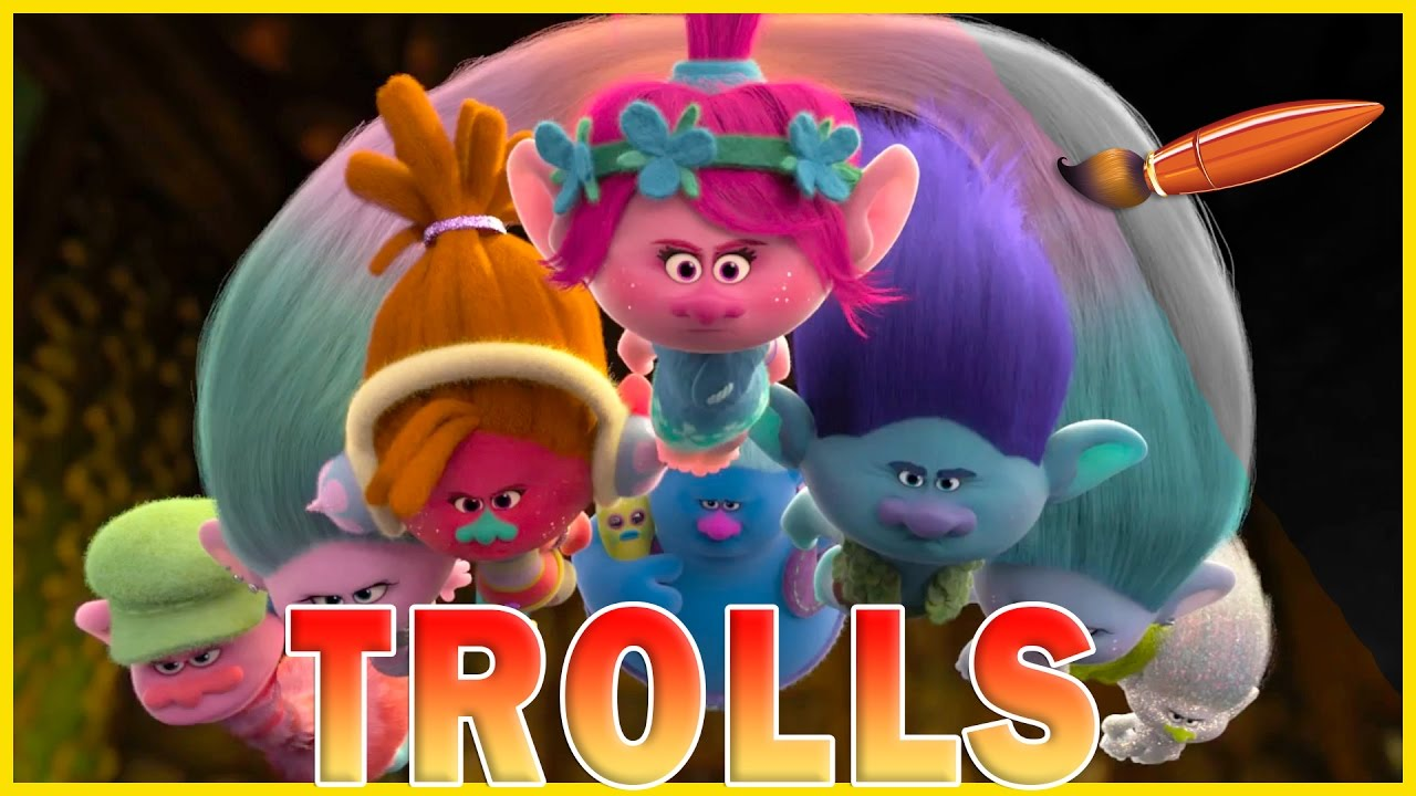 Coloring Pages Trolls : Trolls movie flying trolls kids coloring book coloring pages