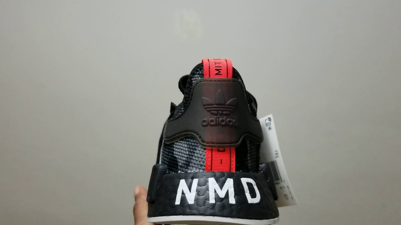 1defb299722d6c Adidas nmd r1 printed series NYC edition black camo with black sole + on  feet.(my first ever nmd)