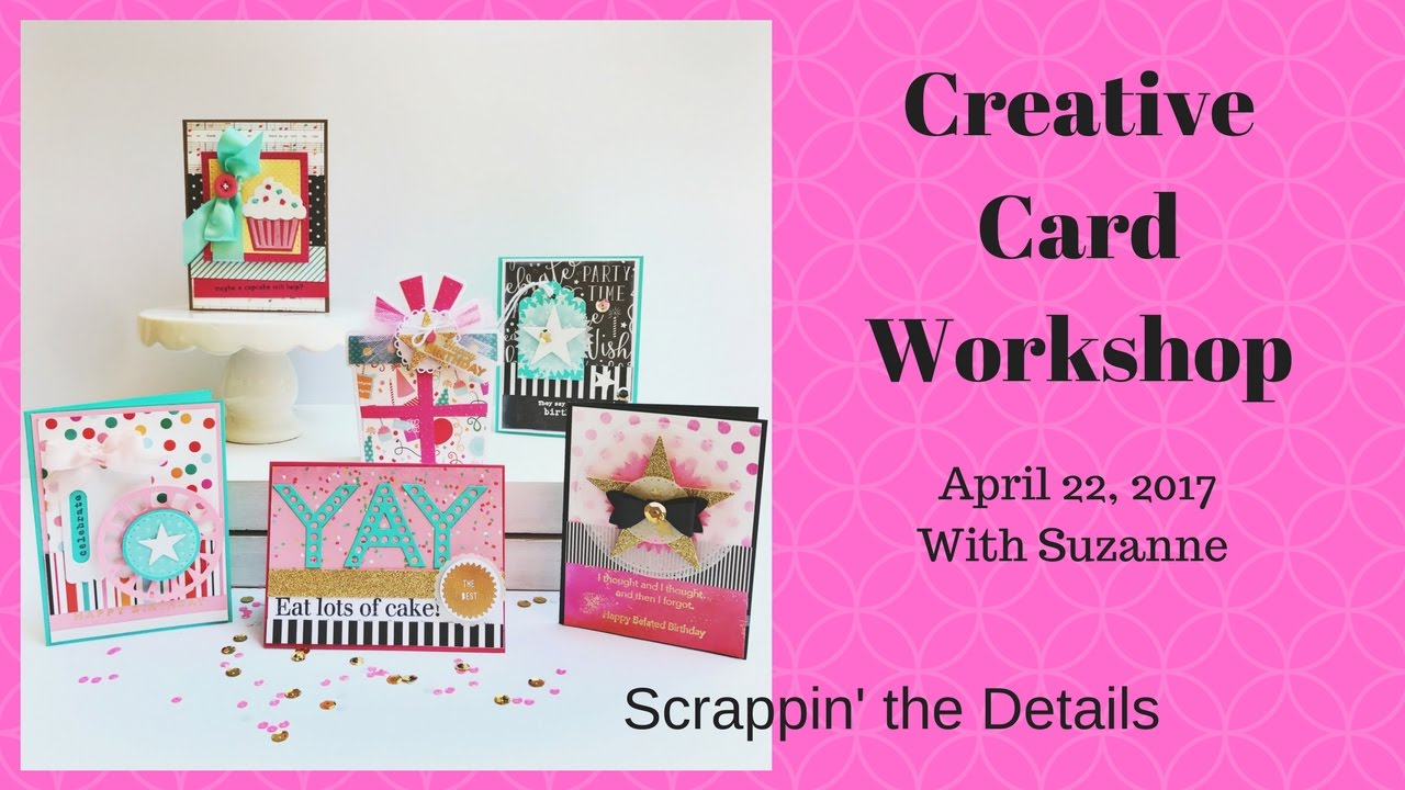 Handmade Birthday Cardmaking Kits Workshop Details