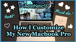 How I Customize My New Macbook Pro 2020 (Aesthetic, Neat, Easy To Use) || [Indonesia]