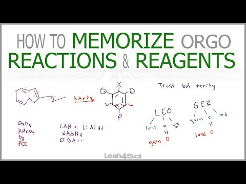 How to Memorize Organic Chemistry Reactions and Reagents