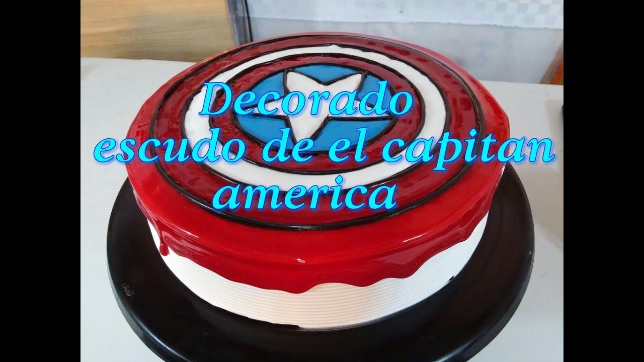 Pastel con escudo de el capitan america  YouTube
