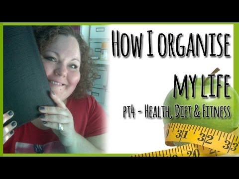 How I Organise My Life (Part Four: Health, Diet, Fitness & Medication) Using my Filofax