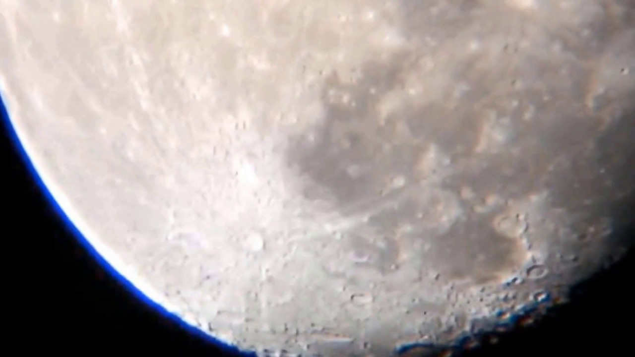My bresser telescope skylux 70 700 test view moon after homemade