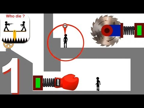 Who Dies First - Stupid Stickmans - Gameplay Walkthrough Part 1 All Domino Minigames (Android)