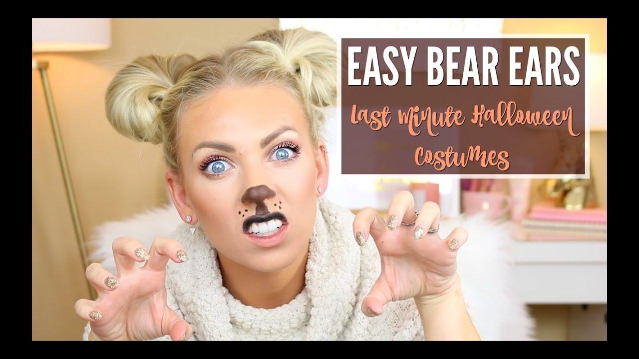 🐻 easy bear ears 🐻 | last minute halloween costumes | vlogtober
