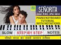 Senorita Piano Tutorial, Shawn Mendes, Camila Cabello, Easy Wtih Notations