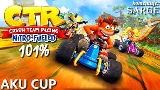 Zagrajmy w Crash Team Racing: Nitro-Fueled PL (101%) BONUS #2  - Aku Cup | Hard | CNK