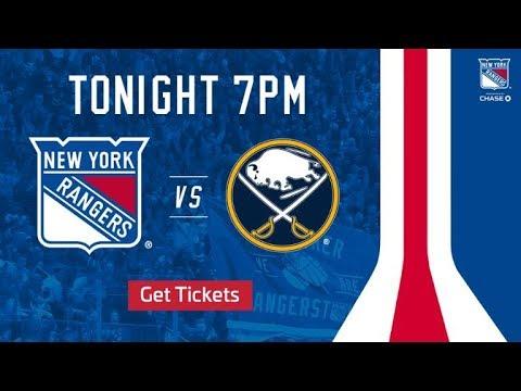 NHL 19 PS4. REGULAR SEASON 2018-2019: Buffalo SABRES VS New York RANGERS. 11.04.2018. (NBCSN) !