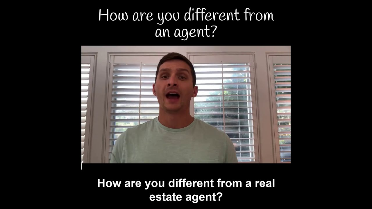How are you different from an agent?