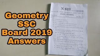 Maths SSC Board 2019 Questions Solution | Geometry SSC Board Maharashtra Questions Answer 2019