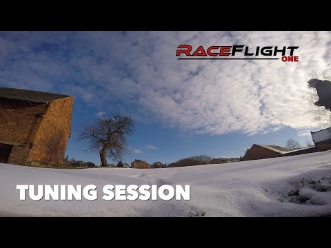Learning to tune RaceFlight One [RF1] /// clips from short tuning session