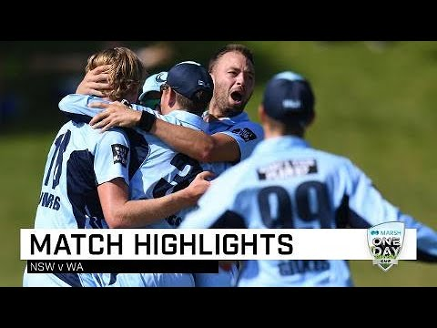 Highlights: Western Australia V New South Wales, Marsh One-Day Cup 2019