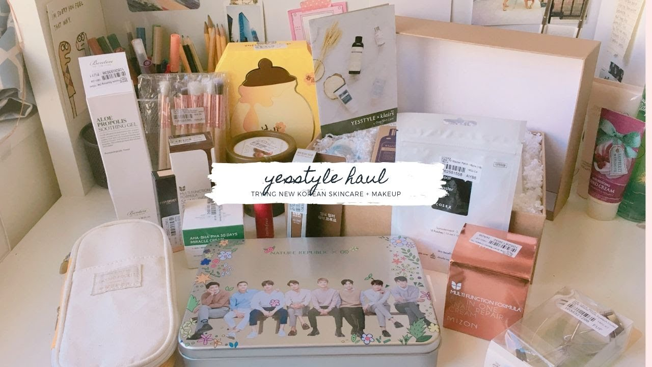 yesstyle haul | trying new korean skincare and makeup products