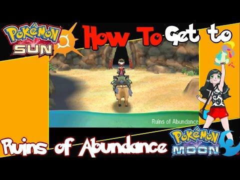 Pokemon Sun and Moon Tutorial How to Get Through Haina Desert to the Ruins of Abundance (Psychium Z)